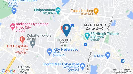 Prestige service apartment Map