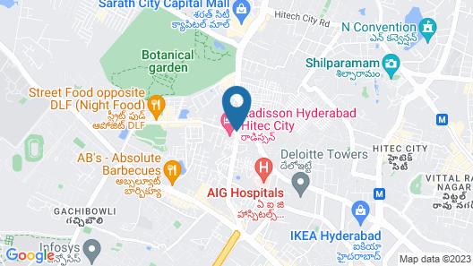 Radisson Hyderabad Hitec City Map