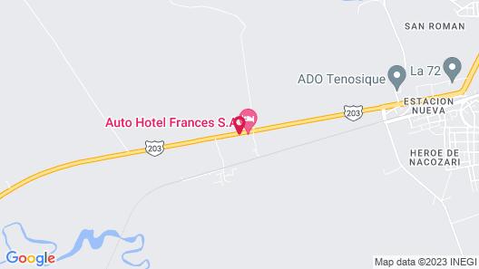 Auto Hotel Frances Map