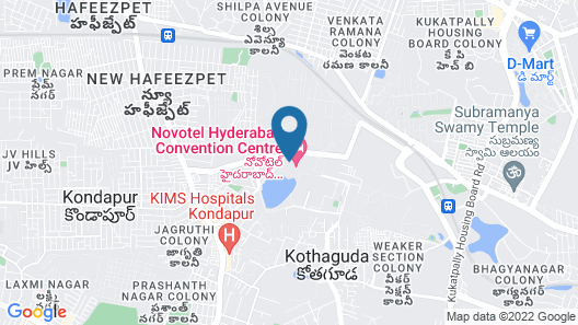 Novotel Hyderabad Convention Centre Hotel Map
