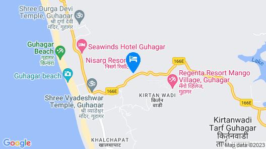 Nisarg Resort Map