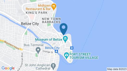 Golden Bay Belize Hotel Map