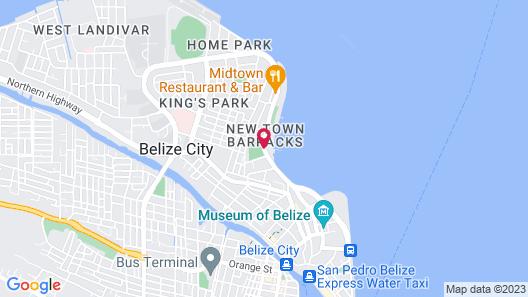 Ramada Belize City Princess Hotel Map