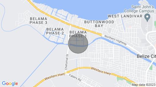 Gorgeous Studio (AC WiFi, ) Belize City Map