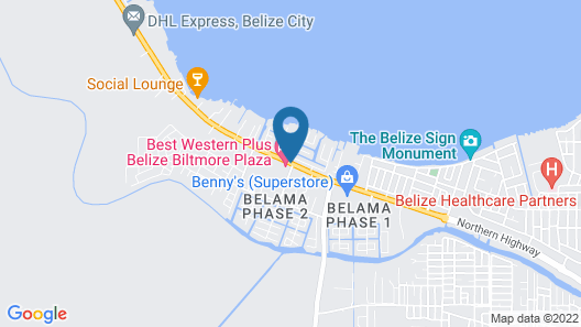 Best Western Plus Belize Biltmore Plaza Map