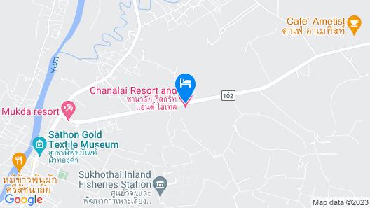 Chanalai Resort and Hotel Map