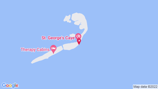 St. George's Caye Resort Map