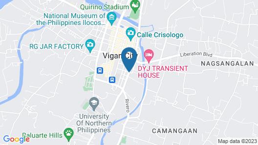 Casa Rica Hotel Map