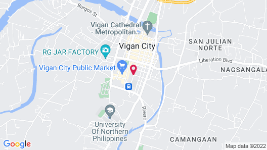 Paradores de Vigan Map