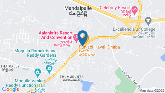 Aalankrita Resort and Convention Map