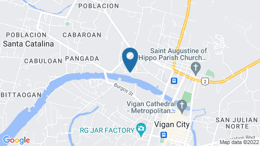 The Orange House - Vigan Villa Map