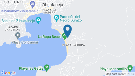 Thompson Zihuatanejo, a Beach Resort Map