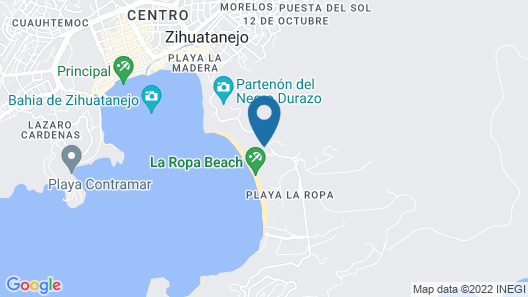 Luxury Private Home Overlooking Zihuatanejo Bay, 5 Min. Walk to Beach Map