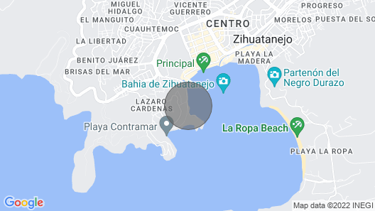 Welcome to  Zihuatanejo Paradise, steps to Centro and with an aMAZING view! Map