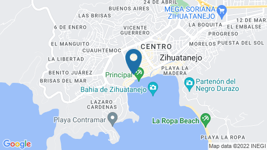 Isabel Suites Zihuatanejo Map