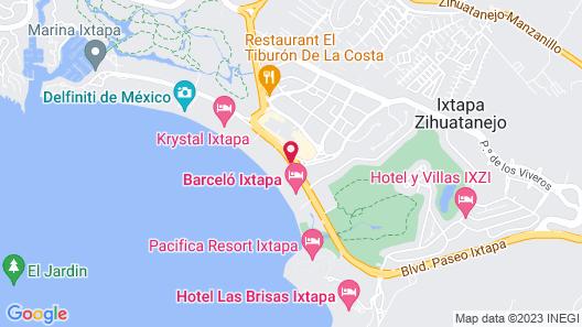 Fontan Ixtapa Beach Resort - All Inclusive Map