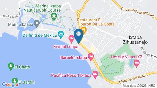 Sunscape Dorado Pacifico Ixtapa Resort & Spa, All Inclusive Map