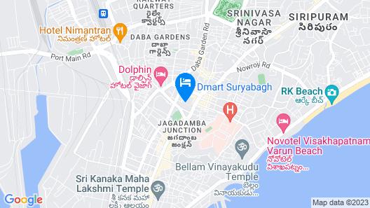 Daspalla Hotel Visakhapatnam Map
