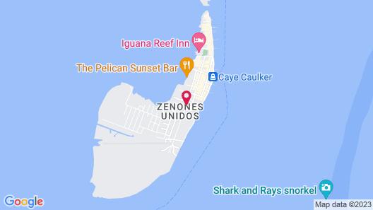 Caye Caulker Cabanas Map