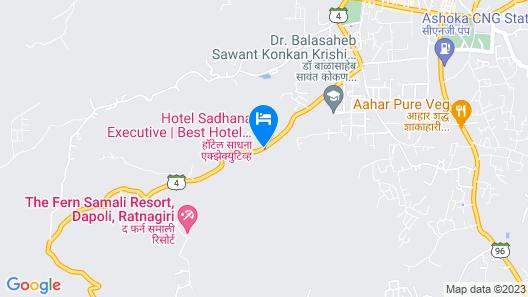 Hotel Sadhana Executive Map