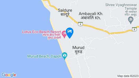 Lotus Eco Beach Resort Murud Map
