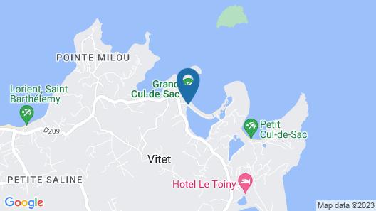 Le Barthélemy Hotel & Spa Map