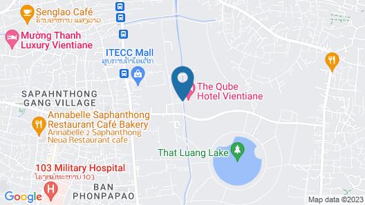 The QUBE Hotel & Suite Vientiane Map