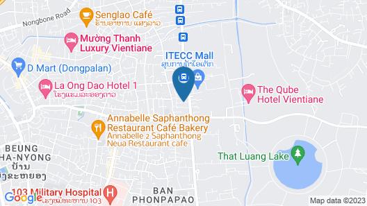 Vansana Vientiane - Ban Phonthan Map