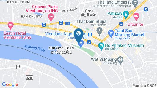 V Hotel Vientiane Map