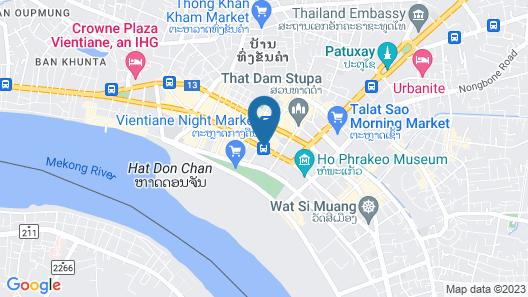 ibis Vientiane Nam Phu Map