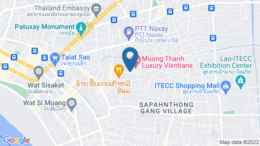 Muong Thanh Luxury Vientiane Map
