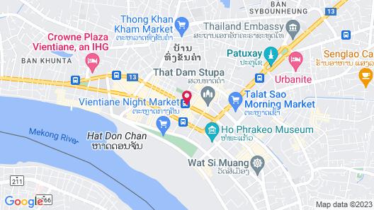 Lao Plaza Hotel Map