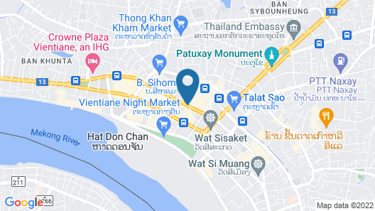 Lao Plaza Hotel Map