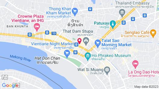 City Inn Vientiane Map