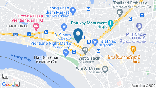 City Inn Vientiane Map