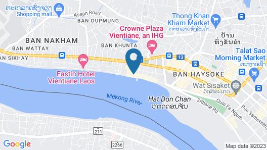 Vansana Riverside Hotel Map