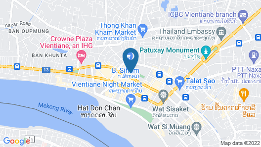 Vientiane Luxury Hotel Map