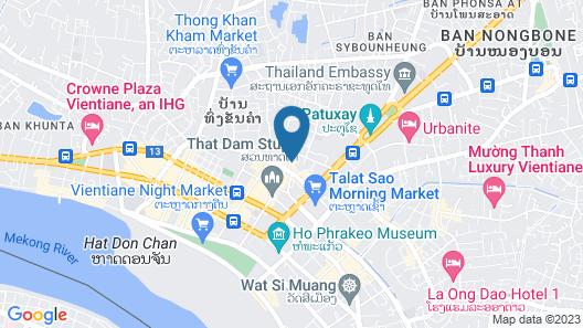 Vientiane Plaza Hotel Map