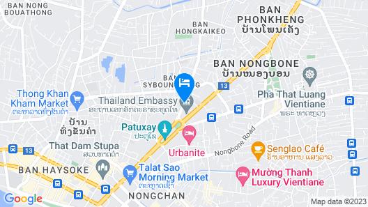 Phasouk Vien Chantra Hotel Map
