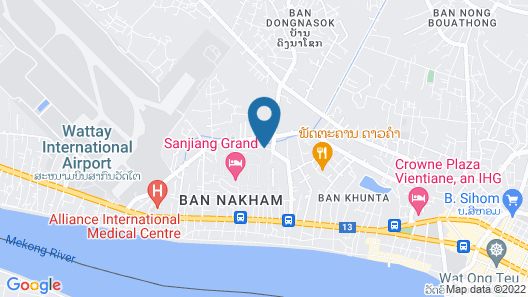Chang Palace Vientiane Map