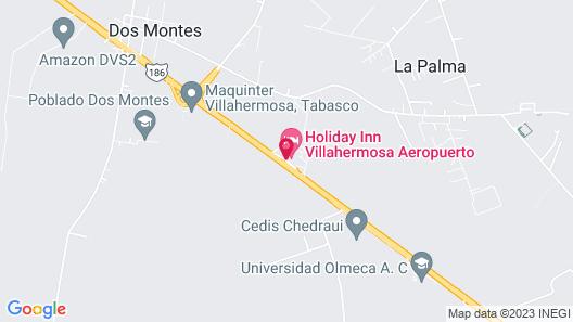 Holiday Inn Villahermosa Aeropuerto Map