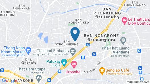 Central Boutique Hotel Vientiane Map