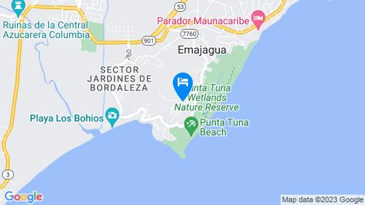 Villa del Faro Penthouse Map