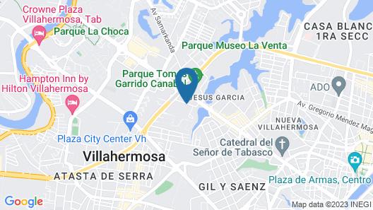 Hyatt Regency Villahermosa Map