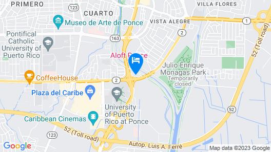 Aloft Ponce Map
