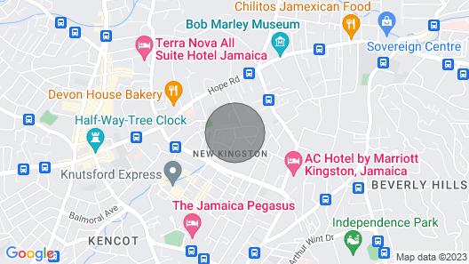 YellowDoorJa - Kingston's Central Studio  Map