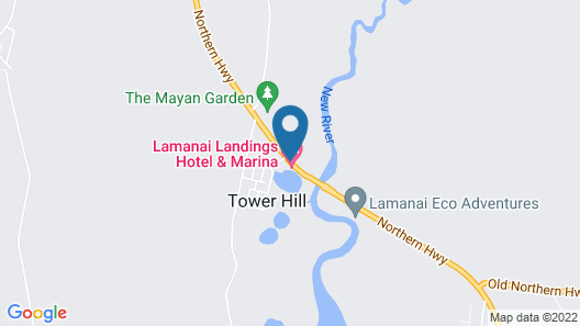 Lamanai Landings Hotel and Marina Map
