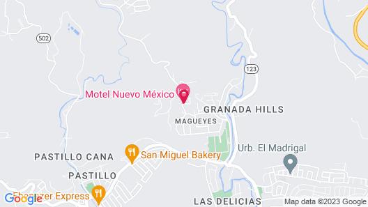 Motel Nuevo Mejico Map
