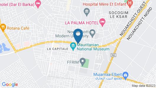 Azalaï Hotel Nouakchott Map