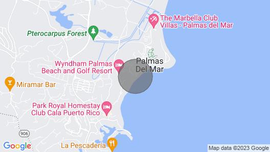 Closest Rental Villa to the Ocean! Crescent Cove 11, Palmas Del Mar, Puerto Rico Map